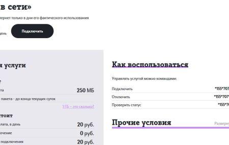 Услуга «День в сети» Теле2 – описание, подключение и отключение