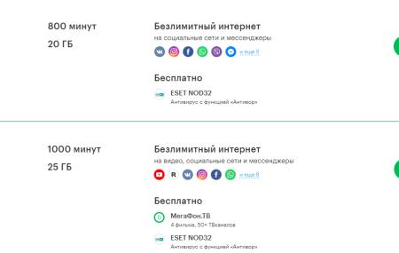 Тарифы Мегафон Хабаровск и Хабаровский край в 2020 году