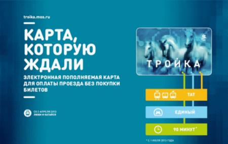 Пополнение карты Тройка банковской картой через интернет и с мобильного телефона