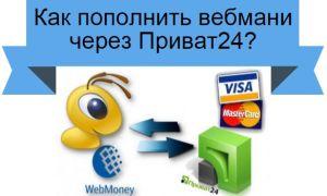 Как с Приват24 перевести деньги на Вебмани и обратно с Вебмани на Приват24