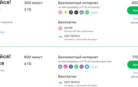 Тарифы Мегафон Анадырь и Чукотка в 2020 году