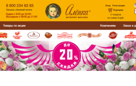 shop.alenka.ru активировать карту «Аленка» – кондитерский магазин