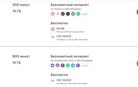 Тарифы Мегафон Белгород и Белгородская область 2021 года