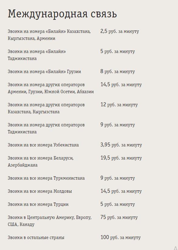 билайн тариф всё за 200 рублей в месяц