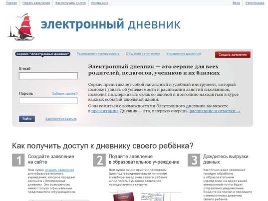 электронный дневник санкт петербургского
