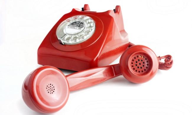 красное и белое телефон