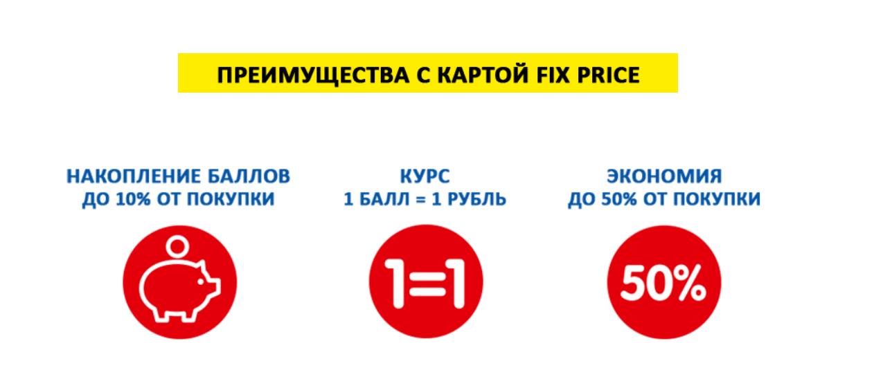 бонус fix price ru