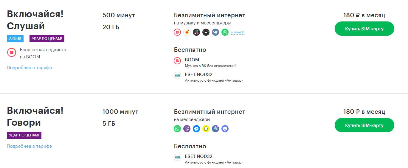 тарифы Мегафон тюменская область без абонентской платы
